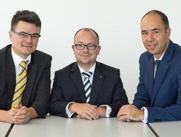 Experten vom deutschen Bankenverband: Falko Rogge, Wertpapierspezialist; Frank Müller, Leitung Privat-Banking, und Daniel Renner, Portfoliomanager (v.l.).