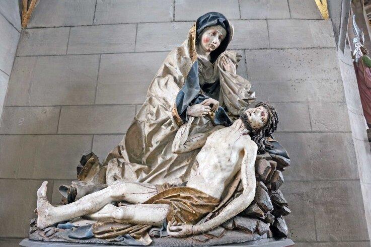 Die Pieta von Peter Breuer ist einer der bedeutendsten Kunstschätze im Dom St. Marien zu Zwickau.