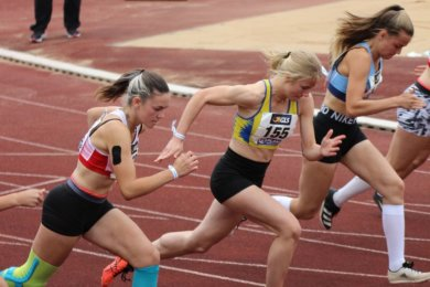 Pia Ulbricht (Nr. 155) erkämpfte bei ihrer Premiere bei einer Deutschen Meisterschaft Platz 9. Während es in Markt Schwaben in den Lauf- und Wurfdisziplinen ansprechend lief, patzte sie im Weitsprung.