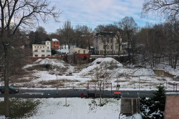 Auf diesem Areal ist der Neubau geplant.