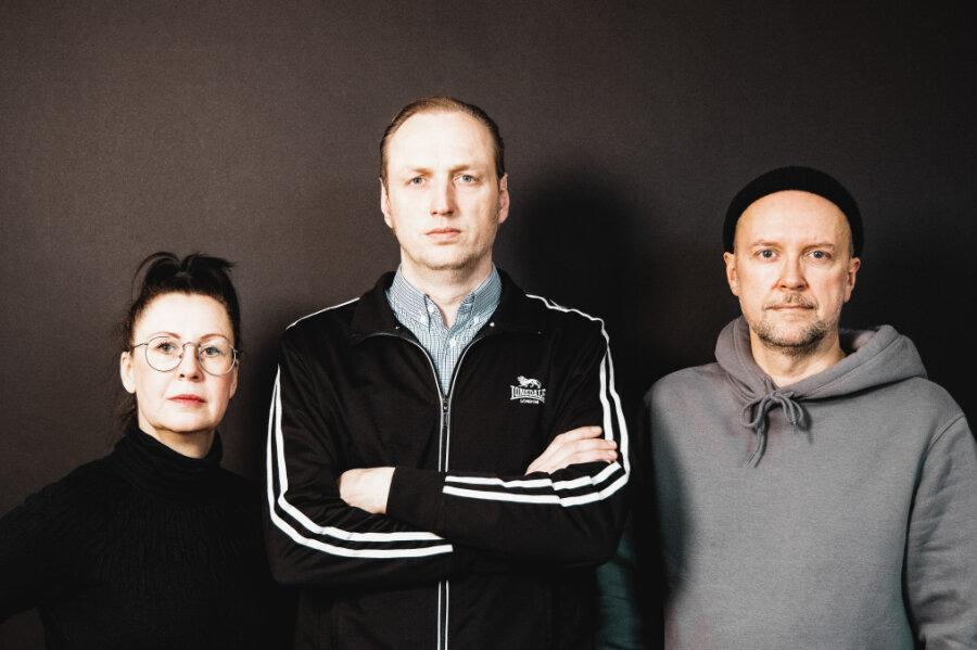 """Yvonne Preibisch, Thomas Kahl und Maik Selbmann (von links) initiierten die """"Kulturgesichter""""."""