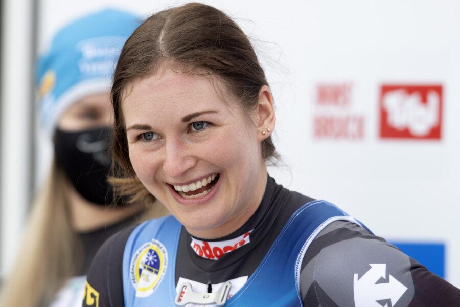 Julia Taubitz gewinnt Gold bei der Rodel-WM