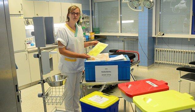 Mittelsächsische Krankenhäuser schulen Personal für Ebola