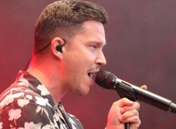 Nico Santos sang am Freitag beim Sommer Open Air in Frankenberg.