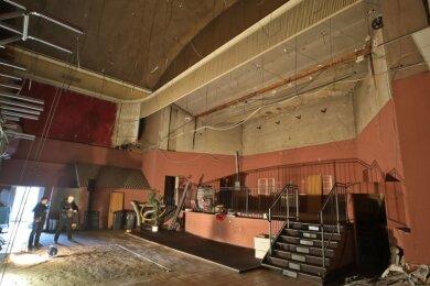 Blick in den ehemaligen großen Saal der Glauchauer Kammerlichtspiele.