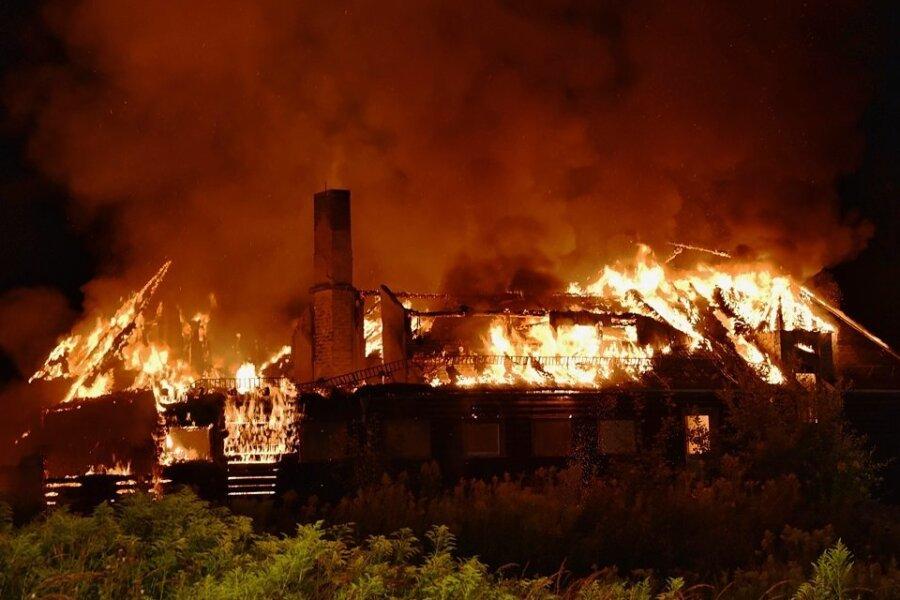 Das einstige TuR-Ferienheim in Olbernhau ist im August vergangenen Jahres komplett abgebrannt.