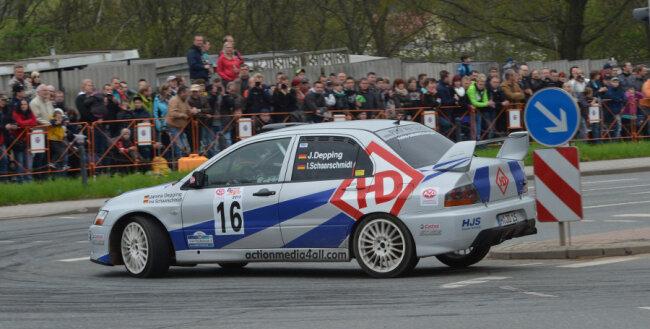 Einer der letzten Starts für das Team Janina Depping/Ina Schaarschmidt war bei der Sachsen-Rallye im Mai.