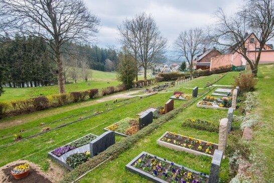 Der Friedhof von Burkhardtsgrün: Ein neuer Zaun soll ihn vor Wildschweinen schützen.