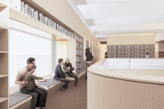 Stadtbibliothek soll nach dem Umbau frisch und modern aussehen