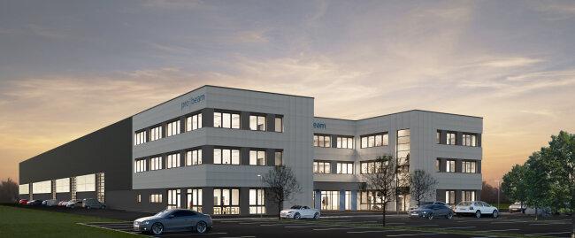 Die Firma Pro-Beam zieht von Neukirchen nach Stollberg. So wird das Werksgebäude im Sommer 2020 aussehen.