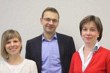 Gefragte Experten: Ina Flache, Jugendamt Chemnitz; Frank Simon, Fachanwalt aus Dresden, und Almut Patt, Fachanwältin aus Chemnitz (v.l.).