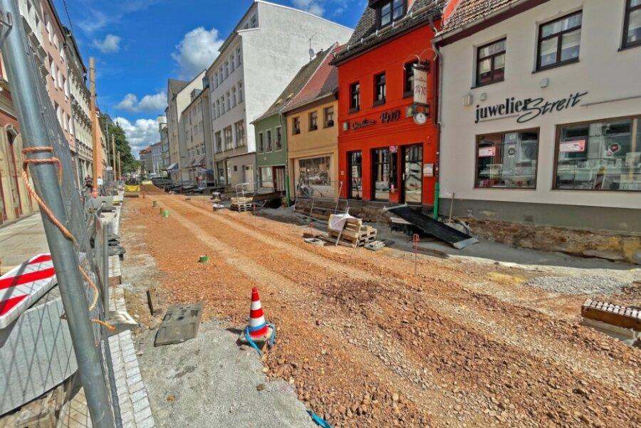 Großbaustelle teilt die Zwickauer Marienstraße
