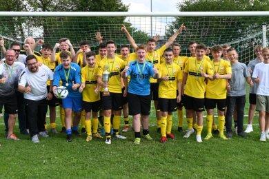 Die Spielgemeinschaft Oelsnitz/Stollberg II hat im Pokalfinale der B-Junioren haushoch gewonnen.