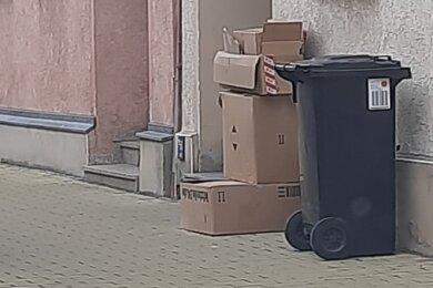 Am Straßenrand abgelegte Pappkartons sollen von den Mitarbeitern des Entsorgungsunternehmens nicht mehr mitgenommen werden.