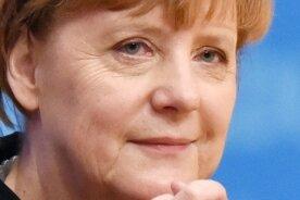 Die CDU mit Leidenschaft an ihrer christlichen Ehre gepackt: Parteichefin Angela Merkel nach ihrer Rede vor den Delegierten.