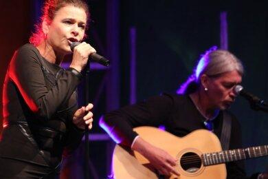 Knapp 100 Gäste haben das Konzert mit Julia Neigel im Rockelmannpark in Schwarzenberg erlebt.