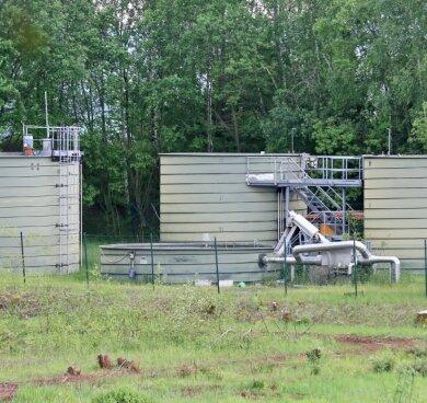 Die Kläranlage der Wasserwerke Zwickau im Wildenfelser Gewerbegebiet.