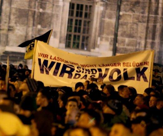 """""""Wir sind das Volk"""" sagen die Pegida-Anhänger. Politikwissenschaftler Patzelt fragt: Und was will das Volk?"""