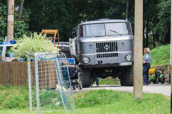 Dieser W50 überrollte das Mädchen während einer Kinderrüstzeit einer Glaubensgemeinschaft in Schwarzenberg.