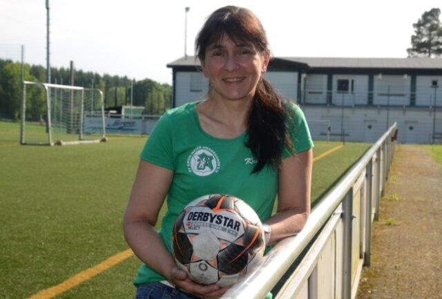 Kristina Werner hält bei den Wernesgrüner Fußballerinnen fast alle Fäden in der Hand. Großes Tamtam ist ihr dennoch eher unangenehm.