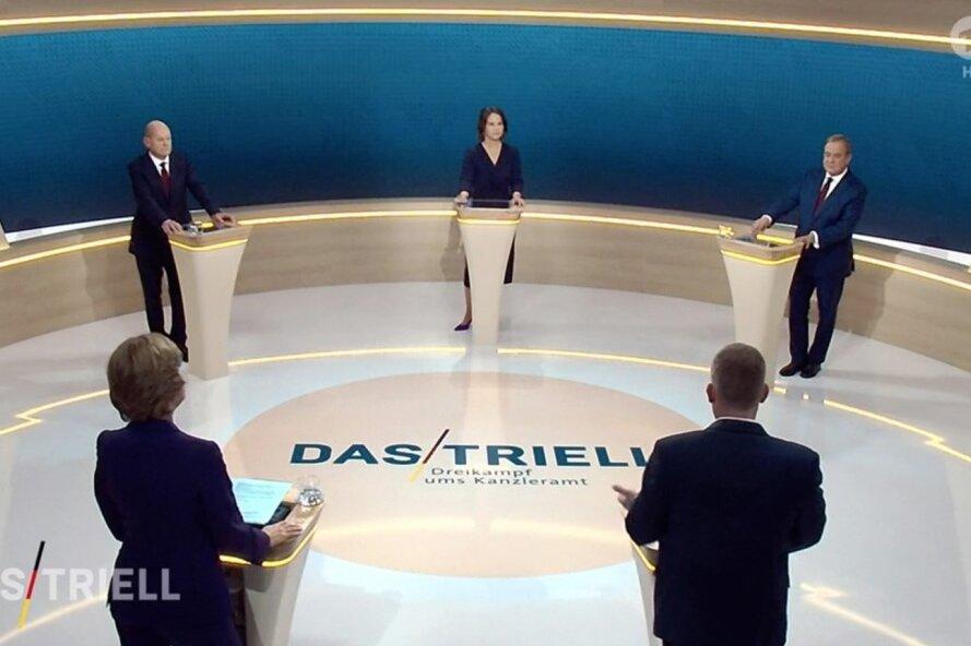 Liveblog zum zweiten TV-Triell: Zuschauerumfrage sieht Scholz erneut vorn