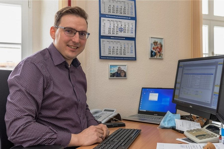 Matthias Stopp hat am Freitag seinen letzten Bürotag als Kämmerer von Thum. Ab 1. April ist er für dann die Finanzen der Großen Kreisstadt Aue-Bad Schlema zuständig.