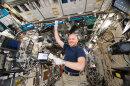 Astronaut Alexander Gerst an Bord der ISS.