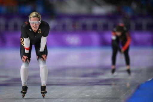 Claudia Pechstein läuft im Massenstart auf Rang sechs