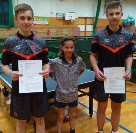 Bei ihrem ersten Turnier nach monatelanger Pause erreichten Jonas Krug, Leo Wohlgemuth und Robin Eulitz (von links) gute Ergebnisse.