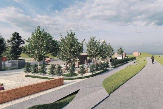 So soll der Biergarten einmal aussehen: Investor Rick Meisel will Pflanzinseln anlegen und Bäume pflanzen.