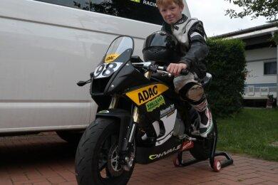 Kai Hummel trat am Wochenende im tschechischen Cheb beim ADAC-Minibike-Cup in der Klasse für Ohvale-Motorräder an.