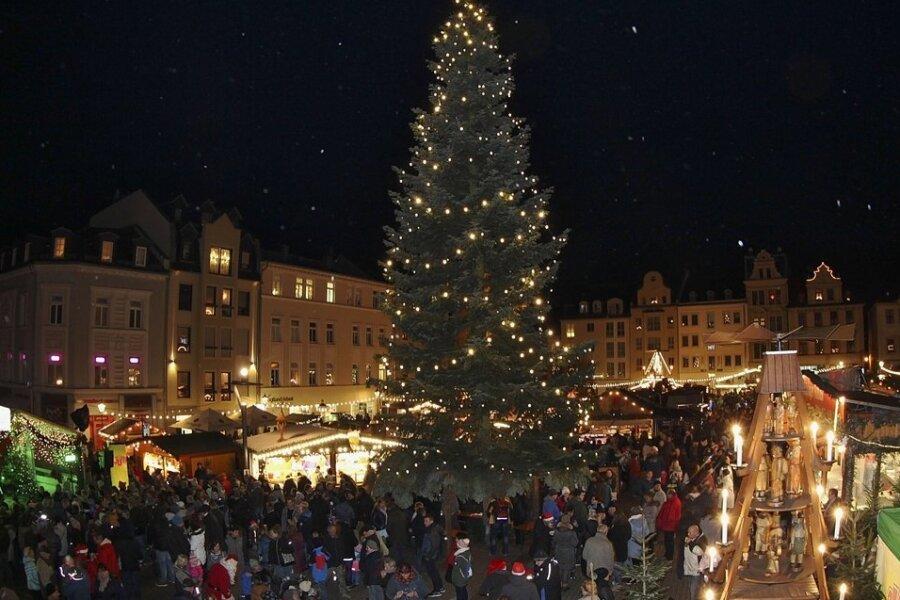 Der Plauener Weihnachtsmarkt.
