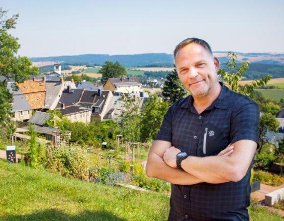 Schöne Aussicht: Der neue Anna-Garten ist aktuell einer der Lieblingsplätze von Dirk Neubauer.