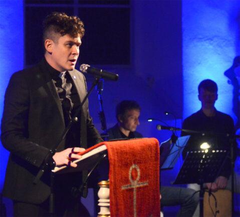 Alexander Felchle (links) und Jochen Blei gehörten am Samstag zu den Protagonisten in der Kirche von Ro-thenkirchen.