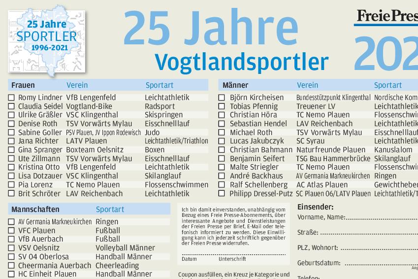 Vogtland wählt die Besten der Besten