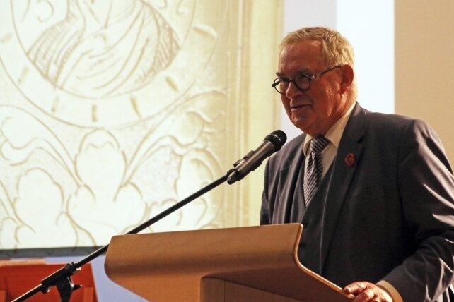 Prof. Dirk Syndram hielt den Festvortrag aus Anlass des 500. Geburtstages des Kurfürsten Moritz.