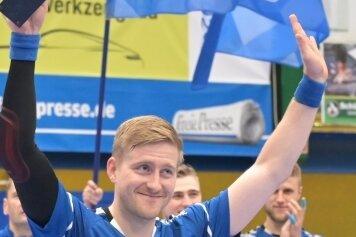 Kehrt als Co-Kommentator in die Erzgebirgshalle zurück: Aues früherer Kapitän Eric Meinhardt moderiert das Heimspiel des EHV gegen den VfL Gummersbach bei Sportdeutschland TV mit.