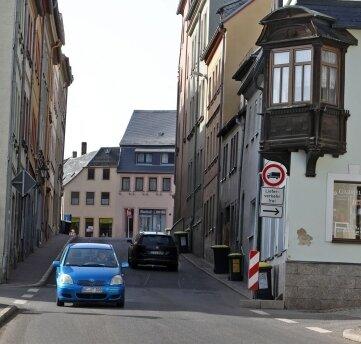 Die Peniger Straße in Waldenburg ist ein Nadelöhr.