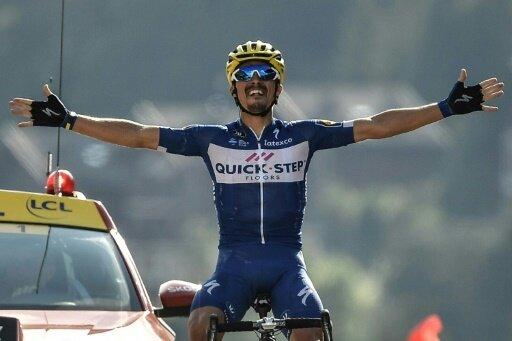 Julian Alaphilippe gewinnt die erste Bergetappe der Tour