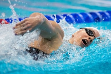 Lara Seifert in ihrem Element: Bei den Deutschen Meisterschaften wurde sie Zweite über 800 m Freistil und Dritte über 400 m Freistil.