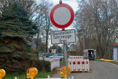 In Frankenau bei Mittweida wird entlang der Oberen Hauptstraße eine Gasleitung gebaut. Daher ist die Ortsdurchfahrt voraussichtlich bis zum 18. Dezember dicht.