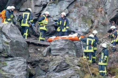 Erst vor zwei Wochen war eine 24-jährige Kletterin in der Wolkensteiner Schweiz von einer Felswand abgestürzt und gestorben.