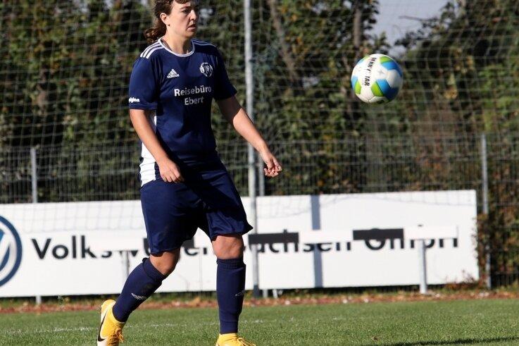Die Zwickauerin Daniela Mittag erzielte am Sonntag gegen Babelsberg ihre Saisontore Nummer 10 bis 13.