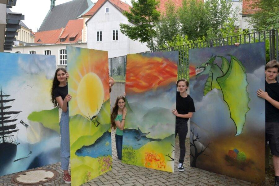 So bunt ist Schule: Schollgymnasiasten bringen Farbe ins Haus Albertinum