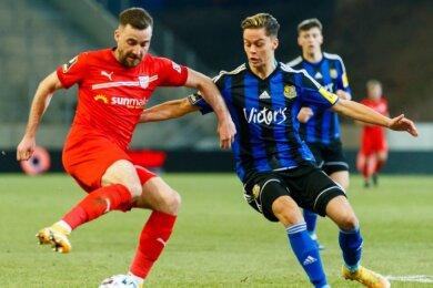 Morris Schröter (l.) erzielte das 1:0 für den FSV Zwickau.