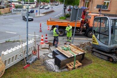 Der in Plauen vorerst letzte neue Rotlichtblitzer wird in Kürze an der Kreuzung Straßberger Straße/Trockentalstraße in Betrieb gehen.