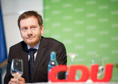 Michael Kretschmer (CDU), Ministerpräsident von Sachsen, nimmt an der öffentlichen Wahlkreismitgliederversammlung zur Aufstellung der Bewerber in den Wahlkreisen 57, 58, 59 und 60 für die Wahlen zum Sächsischen Landtag teil.