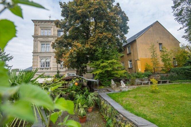 Blick zur Austelvilla in Zwönitz. Auch hier finden am Sonntag spezielle Führungen statt