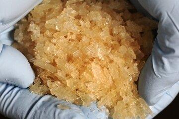 Crystal - knapp 1,4 Kilogramm dieser Droge fand die Polizei 2020 allein im Bereich der Polizeidirektion Zwickau.