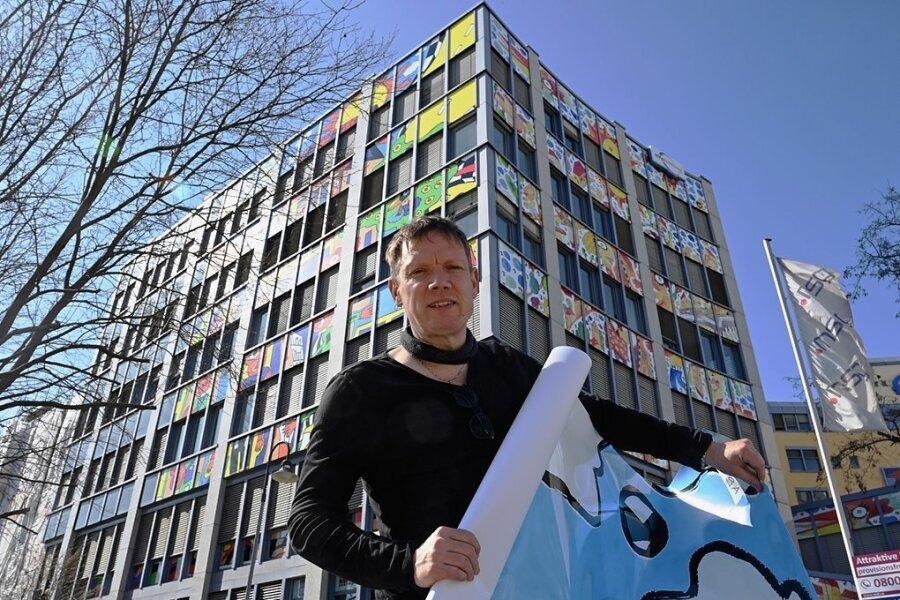 Das Falke-Forum ist das neueste Projekt von Michael Fischer-Art in Chemnitz.